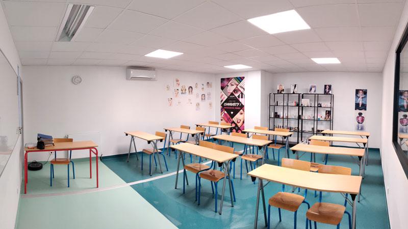Ecole soins esthétiques - salle de cours - Nantes